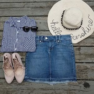 WHBM| denim mini skirt